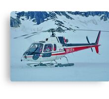Helicopter On Top of the World  :  On the Glacier Canvas Print