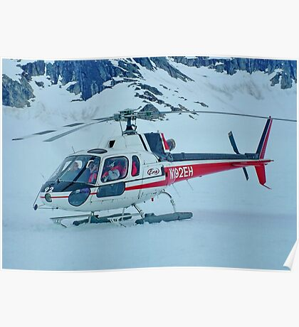 Helicopter On Top of the World  :  On the Glacier Poster