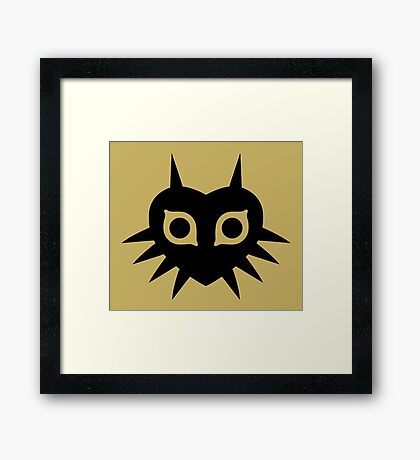 Majora's Mask (Solid, black) Framed Print