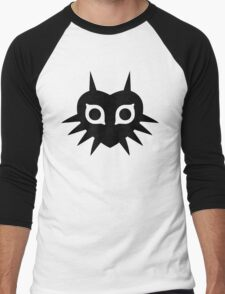 Majora's Mask (Solid, black) Men's Baseball ¾ T-Shirt