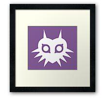 Majora's Mask (Solid, white) Framed Print