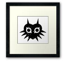 Majora's Mask (Grunge, black) Framed Print