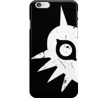 Majora's Mask (Grunge, white) iPhone Case/Skin