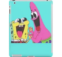 Sponge bob and Patrick happy as ever iPad Case/Skin