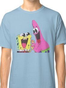 Sponge bob and Patrick happy as ever Classic T-Shirt