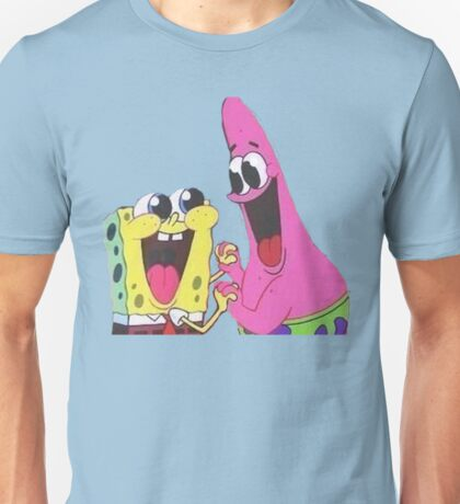 Sponge bob and Patrick happy as ever Unisex T-Shirt