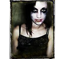 She will eat your brains and gain your knowledge. Photographic Print