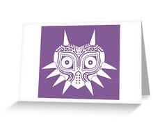 Majora's Mask (Tattoo, white) Greeting Card