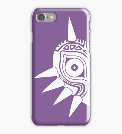 Majora's Mask (Tattoo, white) iPhone Case/Skin