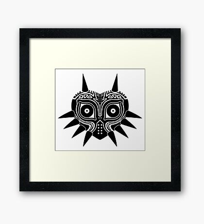 Majora's Mask (Tattoo, black) Framed Print