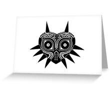 Majora's Mask (Tattoo, black) Greeting Card