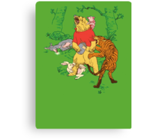 Winnie the Pooh bear gone crazy Canvas Print