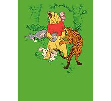 Winnie the Pooh bear gone crazy Photographic Print