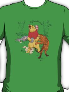 Winnie the Pooh bear gone crazy T-Shirt