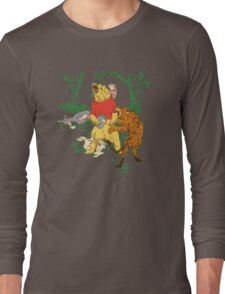 Winnie the Pooh bear gone crazy Long Sleeve T-Shirt