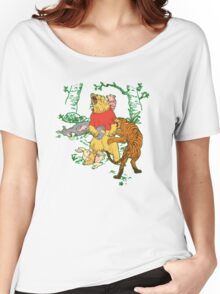 Winnie the Pooh bear gone crazy Women's Relaxed Fit T-Shirt