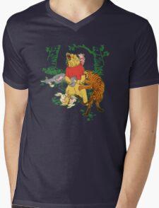 Winnie the Pooh bear gone crazy Mens V-Neck T-Shirt