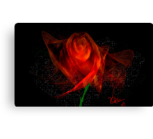 Rose of Fractal Red Canvas Print