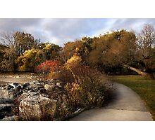 Autumn Along The Shore Photographic Print