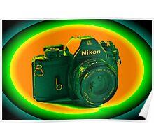 Nikon EM SLR Camera Poster