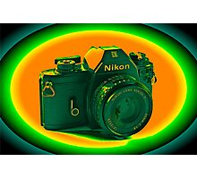 Nikon EM SLR Camera Photographic Print