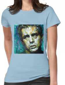 James Dean watercolor Womens Fitted T-Shirt