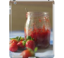 Strawberry marmalade in a glass jar iPad Case/Skin