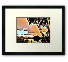 Sunrise in Orange Framed Print