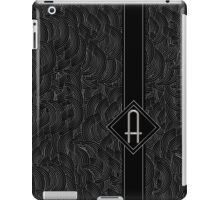 1920s Jazz Deco Swing Monogram black & silver letter A iPad Case/Skin