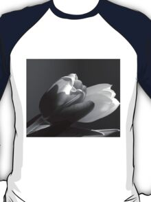 Two tulips in black and white T-Shirt