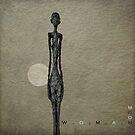 Woman over moon... by Julian Escardo
