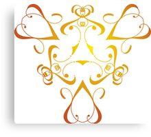 Royal Hearts Canvas Print