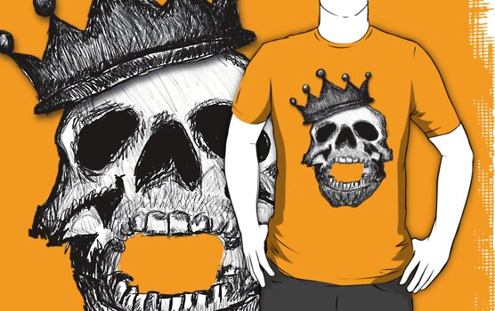 Crown Skull Tee (no shadow) by BluAlien