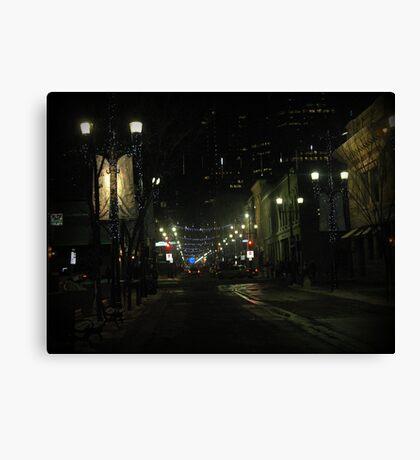 New Years Eve Streetscene Canvas Print