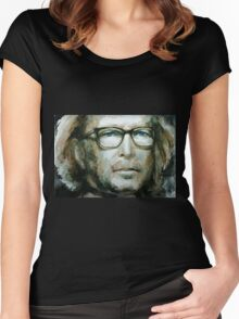 Eric Clapton watercolor Women's Fitted Scoop T-Shirt