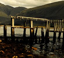old woodern pier by brian a smith