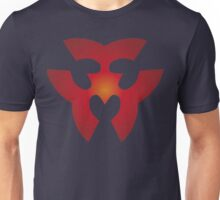 Triangle Hearts - Fire Unisex T-Shirt