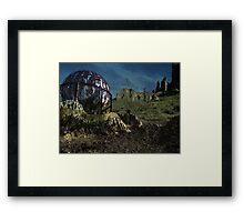 Extinct Base Planet Framed Print