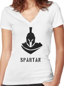 Spartan Warrior Women's Fitted V-Neck T-Shirt