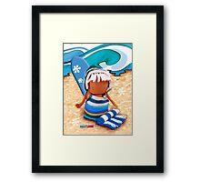 CHUNKIE Surfer Framed Print