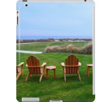 Chairs at the Eighteenth Green iPad Case/Skin