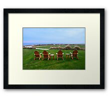 Chairs at the Eighteenth Green Framed Print