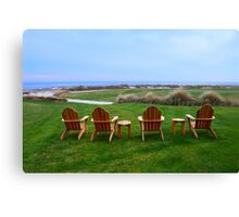 Chairs at the Eighteenth Green Canvas Print