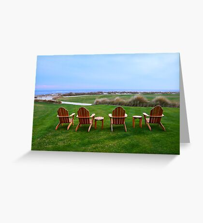 Chairs at the Eighteenth Green Greeting Card
