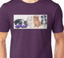 Australian Shepherd Puppies Unisex T-Shirt