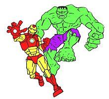 Iron Man & The Hulk by Steve  Ward