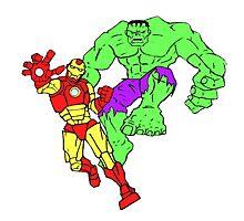 Iron Man & The Hulk Photographic Print