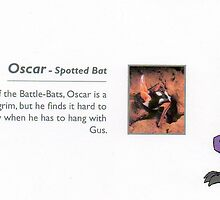 "Oscar: Spotted_""Death's Head""_Bat by johnny jenkins"