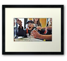 100 at the top of the world Framed Print