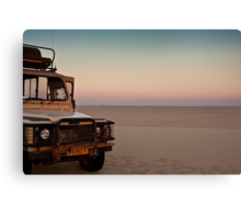 Drive to the edge of sundown Canvas Print